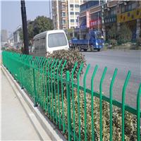 供应朝阳蓝白锌钢护栏  绿色公园草坪护栏