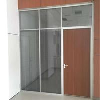 供应西安成品办公室玻璃隔断,西安百叶高隔