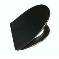 厦门脲醛材质V形黑色马桶盖板 慢落一键快拆