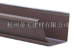 洋房PVC矩形雨水管方形落水管铝合金雨水沟