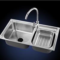 宾正厨房304不锈钢水槽拉伸水槽双槽套装
