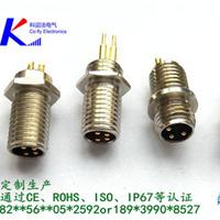 3针4针5针6针板前/板后锁紧连接器-M8*1插座