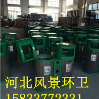 厂家直销钢板垃圾桶 公园  市政 广场