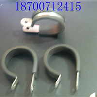 供应供应FLT-R25铁镀锌管夹 连胶条卡箍25mm