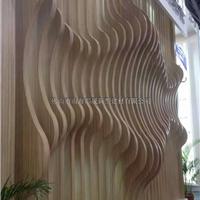 供应木纹艺术天花弧形铝方通,造型天花板