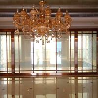 会所玫瑰金不锈钢玻璃门 304不锈钢玻璃门