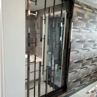 供应卫生间8k黑钛金201不锈钢屏风隔断