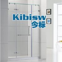 定制一字形隔断淋浴房浴室屏风钢化玻璃移门