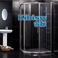 洗手间浴室玻璃隔断门挡水淋浴门