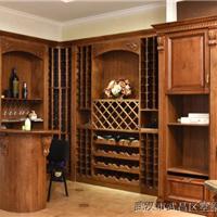原木定制酒柜,酒窖