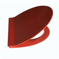 卫浴静音马桶盖板 加长V形红色脲醛盖板