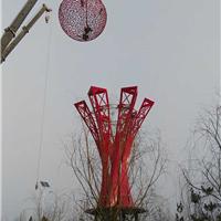 山西不锈钢雕塑道路装饰景观工程15米
