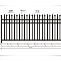 供应南京商业场地围栏 工厂区围栏安装品牌