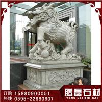 优质石雕麒麟青石麒麟汉白玉麒麟雕刻厂家