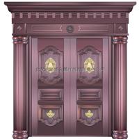 厂家供应高品质智能纯铜门 铜防盗门