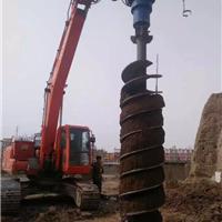小型挖掘机装螺旋钻机 新款挖掘机钻机
