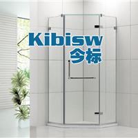 钻石形淋浴房定做平开转轴浴室玻璃隔断门