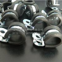 供应山西R型金属管夹 R型连胶条卡箍