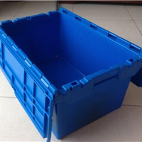 供应上海带盖斜插式周转箱700注塑箱