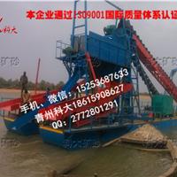 河道淘金船、河沙淘金设备、链斗式淘金船