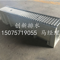 厂家直销树脂排水沟搭配不锈钢盖板