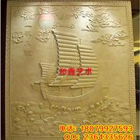 湖南厂家砂岩浮雕背景墙人造沙雕壁画定制