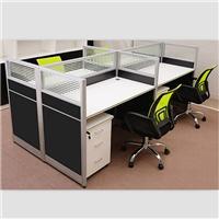 四人位屏风卡位桌子,南昌办公家具定制