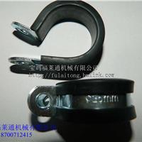 供应R型单环垫 连胶条单线卡16 20 25