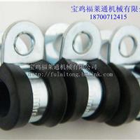 供应带胶条单环垫 R型金属包半胶管夹