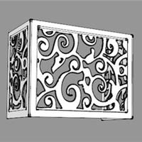 镂空雕花铝单板空调外机保护罩