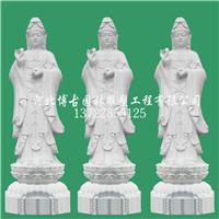 寺庙石雕 汉白玉石雕观音 石雕厂家