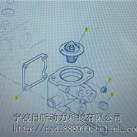 上海珀金斯清洁设备404D-22发动机节温器