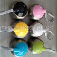 高硼硅耐热玻璃双层盖子COCO杯创意杯盖