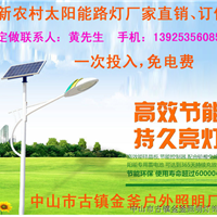 太阳能路灯4米5米6米8米新农村太阳能路灯