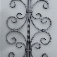 铁艺锻造件 楼梯配件 铁艺立杆 铁艺法兰柱