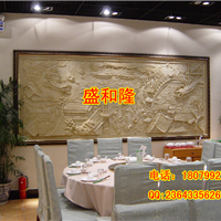 厂家定制砂岩壁画清明上河图背景墙玄关