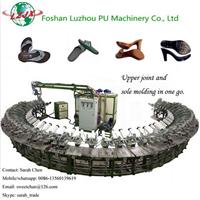 自主研发自动Pu浇注皮鞋高跟鞋底成型机