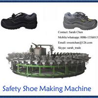供应24工位半自动圆盘劳保鞋连帮鞋成型机