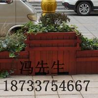 山西木质组合花箱、工程花箱、种植花盆