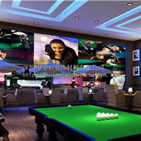 台球厅壁画/台球厅墙壁画/桌球城壁画/姿彩