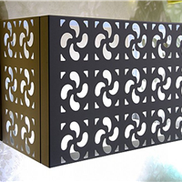 供应小区空调外机保护罩-雕花铝板空调罩