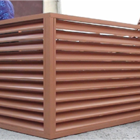 供应空调外机铝板防护罩-镂空铝板空调罩