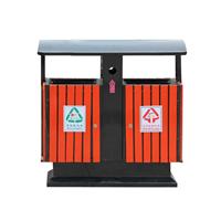 供应户外垃圾桶 钢木垃圾桶 分类垃圾箱