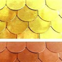 矩形铜瓦   鱼鳞型铜瓦   铜瓦