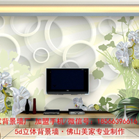 诚招苏州经销商 5d背景墙 君子兰背景墙