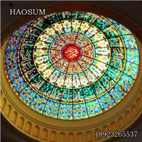 手工工艺焊接彩色玻璃穹顶可来图定制