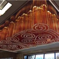 酒店宴会厅别墅高档创意方形水晶灯