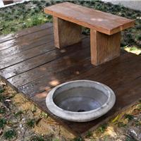 原生仿木水泥地板耐用抗腐蚀