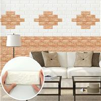 韩国原装进口3D立体仿砖纹墙贴自粘壁纸墙纸