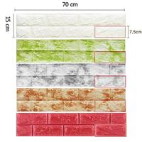 韩国原装进口墙贴3D立体砖纹自粘壁纸墙纸